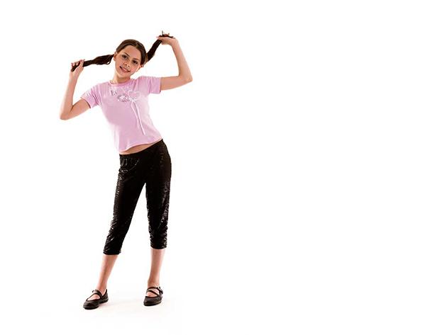 Rózsaszín gyerek póló lány (Méret: 116/122)