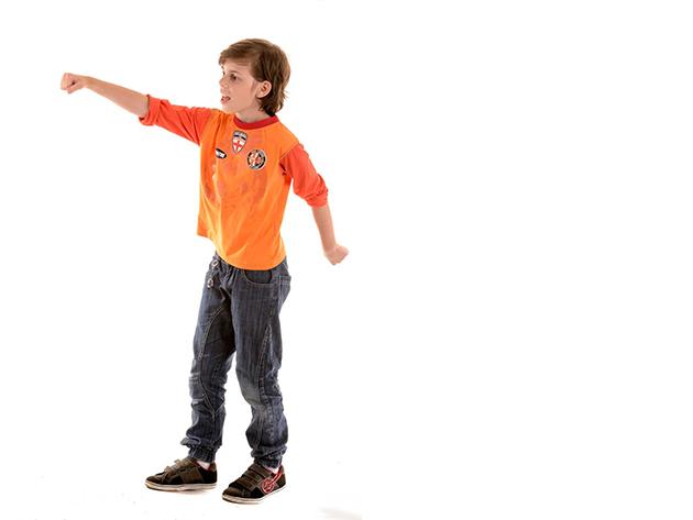 Narancs gyerek póló, fiú (Méret: 116/122)