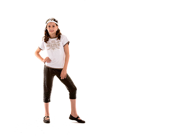Fehér gyerek póló, fiú (Méret: 140/146)