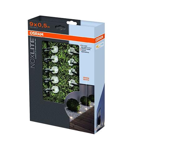 OSRAM 41043 Noxlite led garden spot mini starter set 9 x 0,5W kültéri lámpa