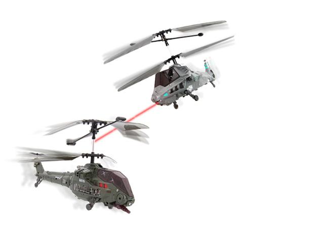 Rakétás RC csatahelikopterek (2 helikopter, 2 távirányító, rakétakilövés)