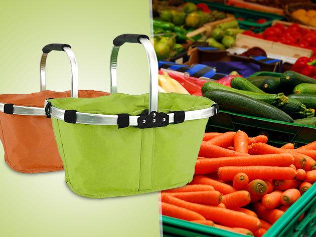 Kezdődhet a bevásárlás! Praktikus, összecsukható bevásárlókosár 1.299 Ft-ért!