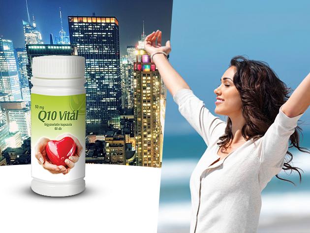60 db Q10 Vitál lágyzselatin kapszula lecitinnel a hosszú, egészséges életért!