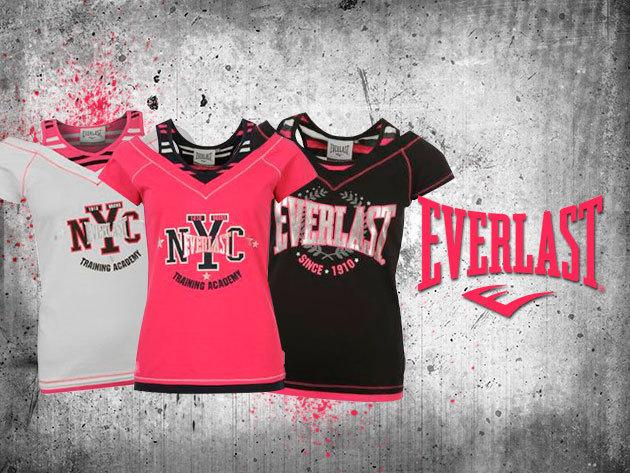Everlast Mock Layer női póló – fehér fekete és pink színben 7.990 Ft helyett 3.790 Ft-ért!