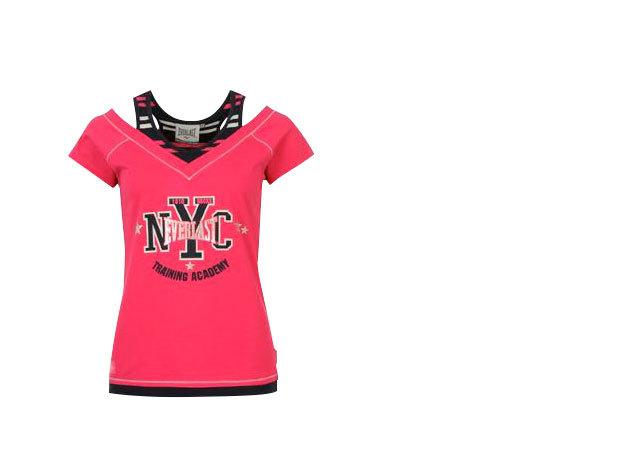 Everlast Mock Layer női póló - pink