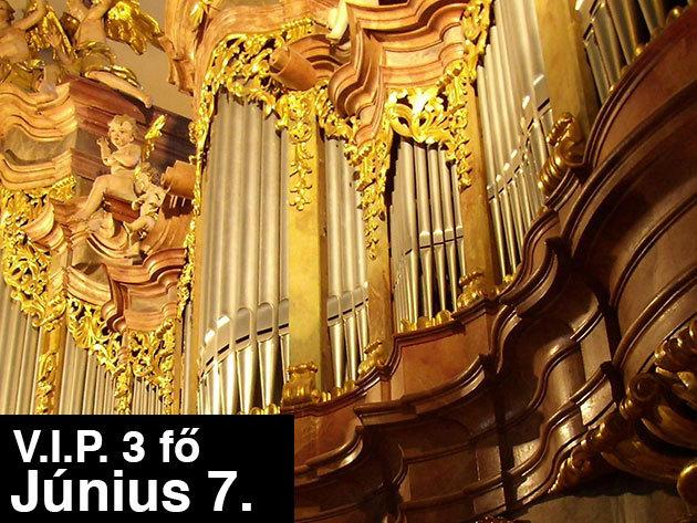 V.I.P PÁROS 3 főre szóló vacsora az Új-Budavár Étteremben és orgonakoncert a budai Szent Anna templomban 2013 június 7.