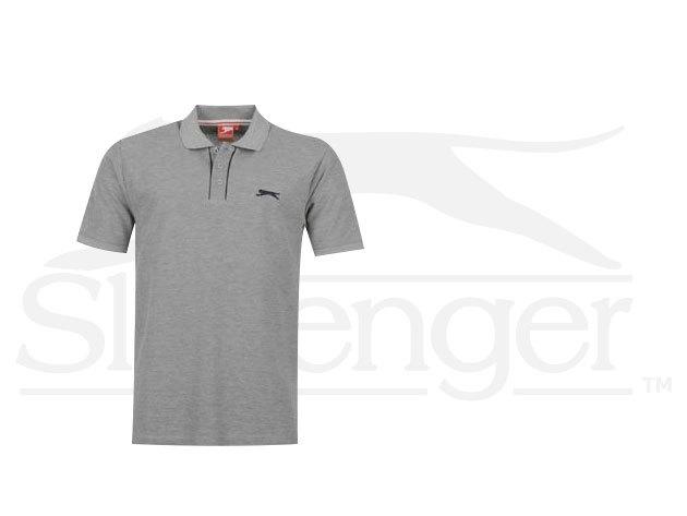 Slazenger Plain férfi galléros póló - szürke