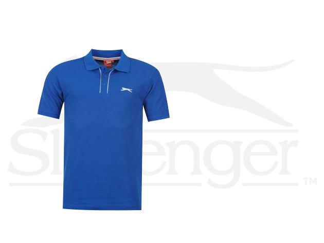 Slazenger Plain férfi galléros póló - kék