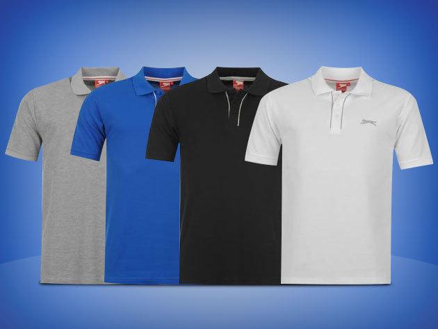 5387e0b31b Slazenger Plain férfi galléros póló – fehér, fekete, szürke és kék színben  2.390 Ft-ért!