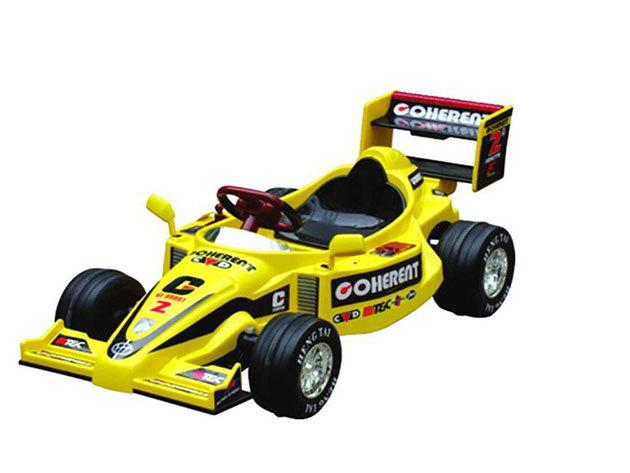 Elektromos F1 autó sárga
