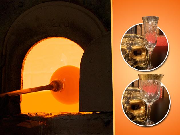 Muránói boros és pezsgős üvegpoharak 29.900 Ft helyett 13.990 Ft-ért!