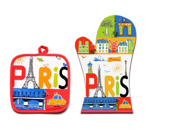 Párizsi sütőkesztyű szett