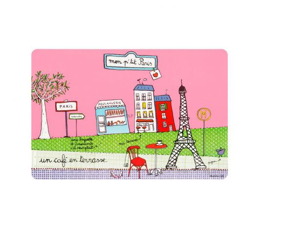 Párizs mintás asztali alátét