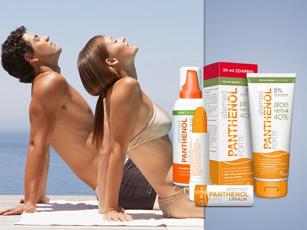 Bőrnyugtató Panthenol Forte termékek napégés ellen már 430 Ft-tól!