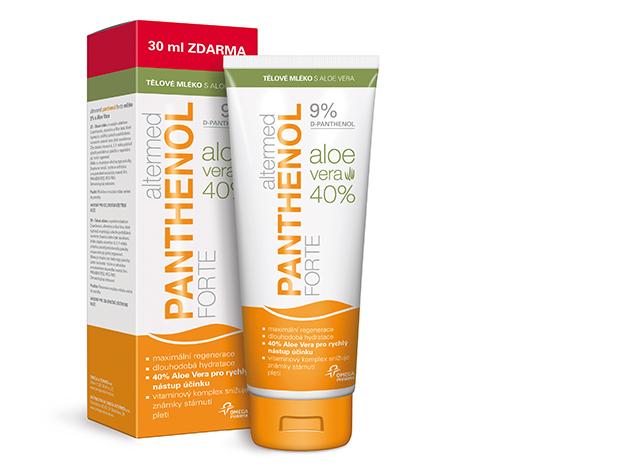 Panthenol Forte 9% testápoló aloe verával 230 ml - Extra gondoskodás napégésre