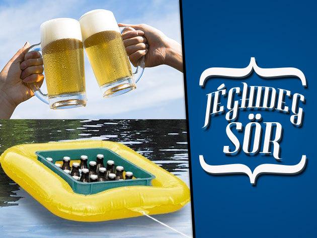 Lebegő sörhűtő - Ha a hőségben a vízparton a hideg sört kívánod!