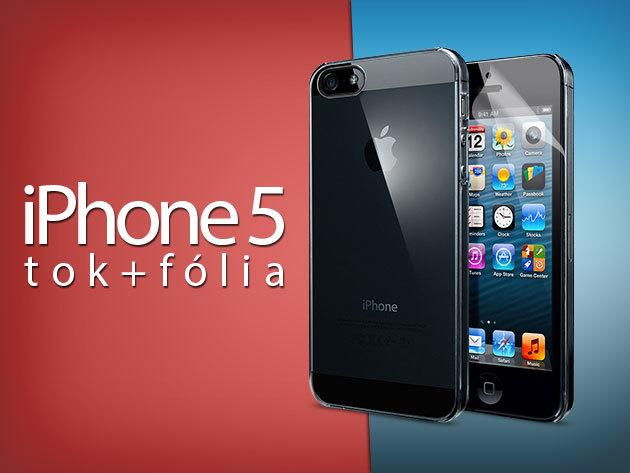 Enyhén színes átlátszó és víztiszta iPhone 5 telefontokok ajándék képernyővédő fóliával!