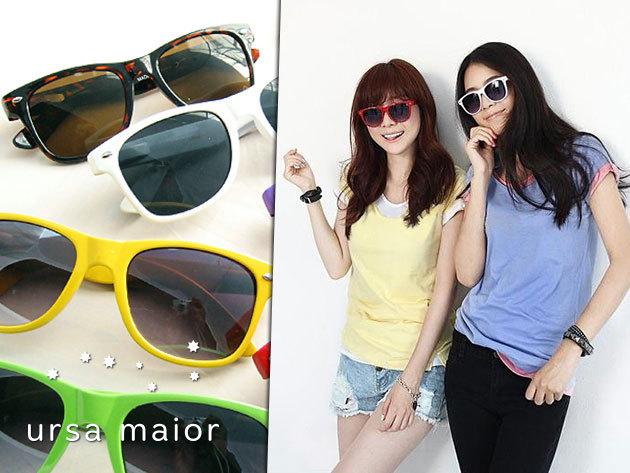 Vidám színeken pompázó retro napszemüvegek 3.000 Ft helyett 990 Ft-ért!