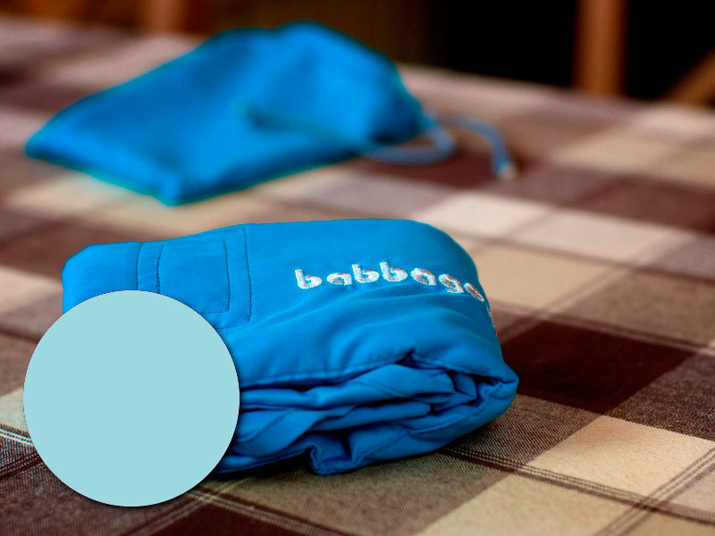 babbago - székre tehető textil etetőszék - Világos kék