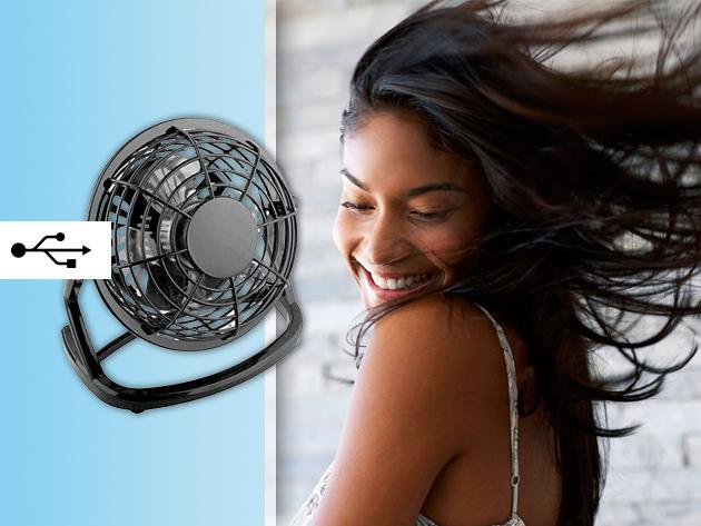 Fújja lágy szellő a hajadat munka közben is usb ventilátorral!