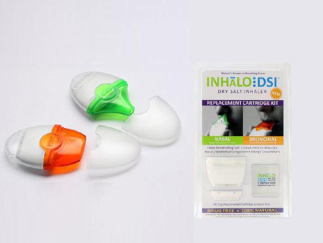 2db INHALO DSI só-inhalátorutántöltő sótartállyal + ajándék 20 000 Ft-os kedvezményre jogosító utalványt a zalakarosi CLUB KAROS SPA Wellness Hotelbe