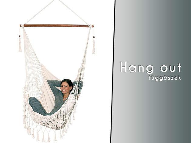 Maximális lazulás – 'Hang out' dizájn függőszék 16.990 Ft helyett 8.150 Ft-ért!