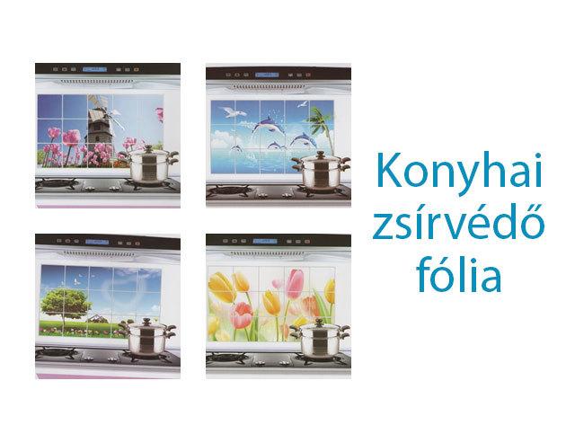 Konyhai zsírvédő fólia – könnyen tisztítható, dekoratív fal és csempevédő!