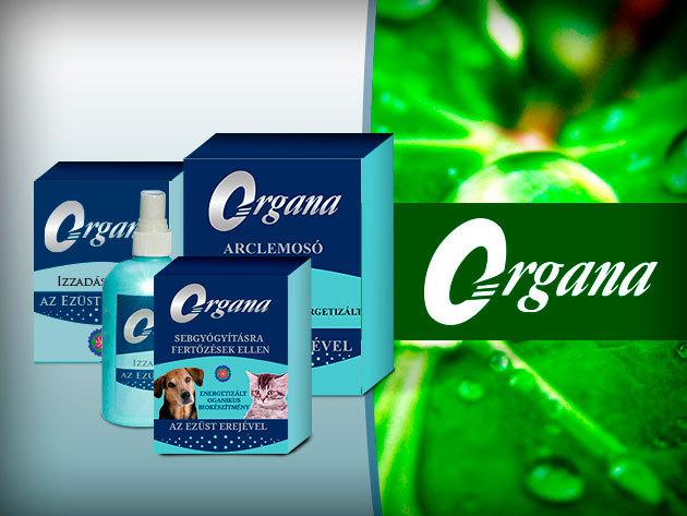 Biokozmetikumok: Organa energetizált ezüst alapú dezodor, arclemosó és sebgyógyító 3.990 Ft-ért!