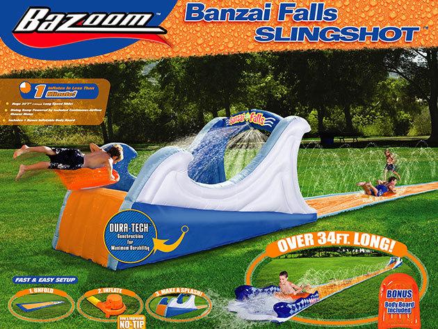 A nyár legszuperebb játékai - Szörf és vízi csúszda az otthoni strandoláshoz!