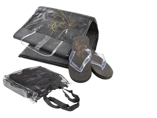 Napozógyékény + flip-flop + táska szett
