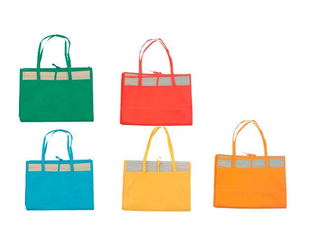 Táskává összehajtható gyékény - kék, narancs, piros, sárga, zöld