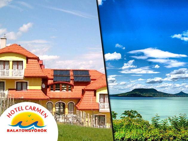 Nyaralás a családdal/unokákkal Balatongyörökön, a Hotel Carmen vendéglátásában!