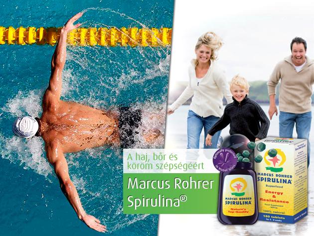 Erős immunrendszer és testsúly-kontroll a Marcus Rohrer Spirulina segítségével.