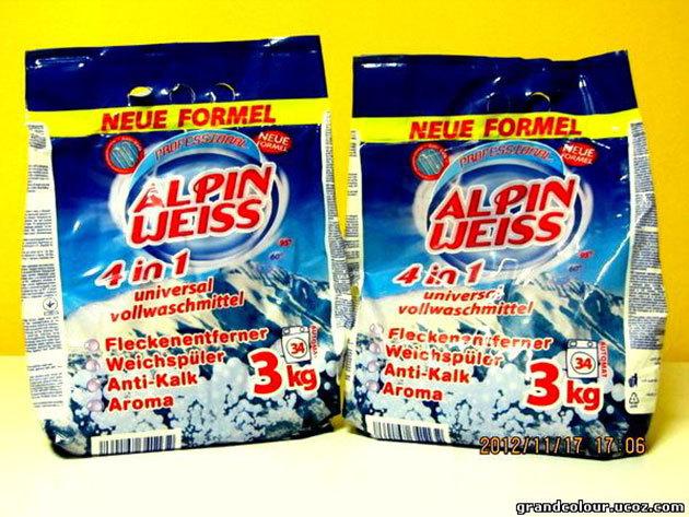 1 db Alpin-Weiss 3 kg-os mosópor