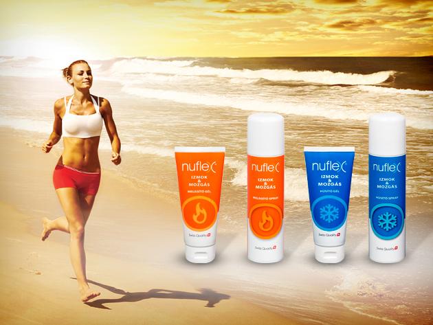 Használd a Nuflex termékeit bemelegítéshez és az izmok regenerálódásához!