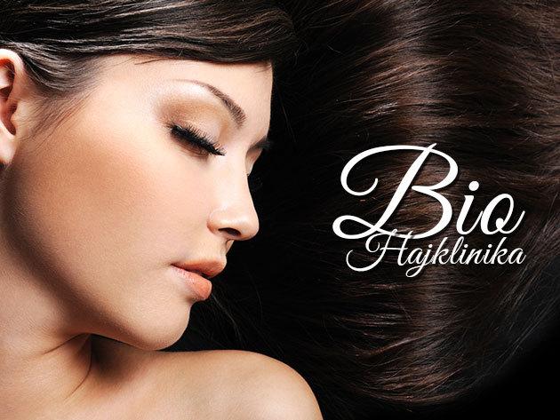 Hajszépítő csomag a Biohajklinikán: mikrokamerás hajvizsgálat, vágás, festés / melír / dauer és ózon búrás hajvégkezelés!