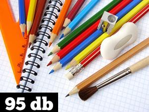 95 darabos írószercsomag  – ajándék tolltartóval
