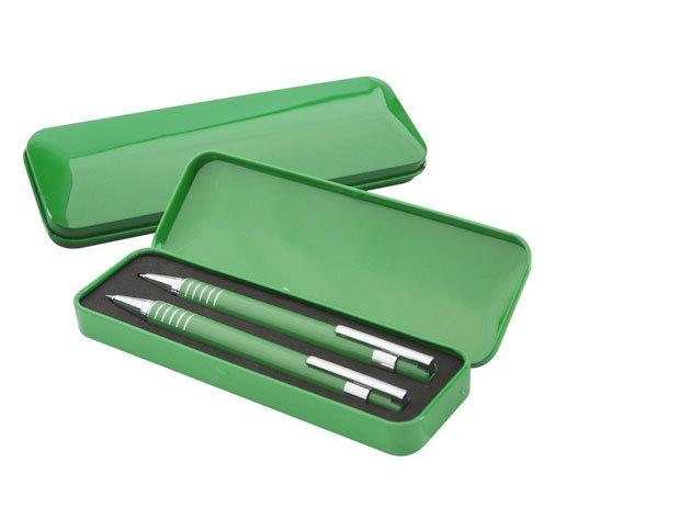 Fém toll és töltőceruza fém dobozban.