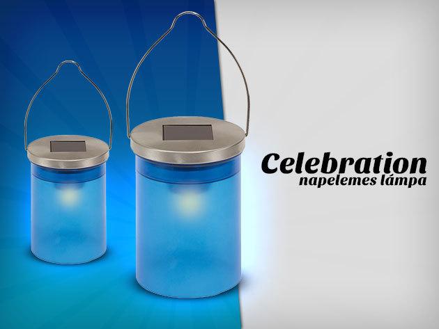 Celebration napelemes lámpa kék hangulatvilágítással, mindössze 1.190 Ft-ért!