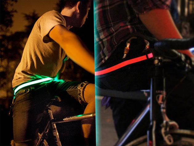 Kerékpáros LED láthatósági öv több színben, 2.800 Ft-ért – mert a biztonság az első!