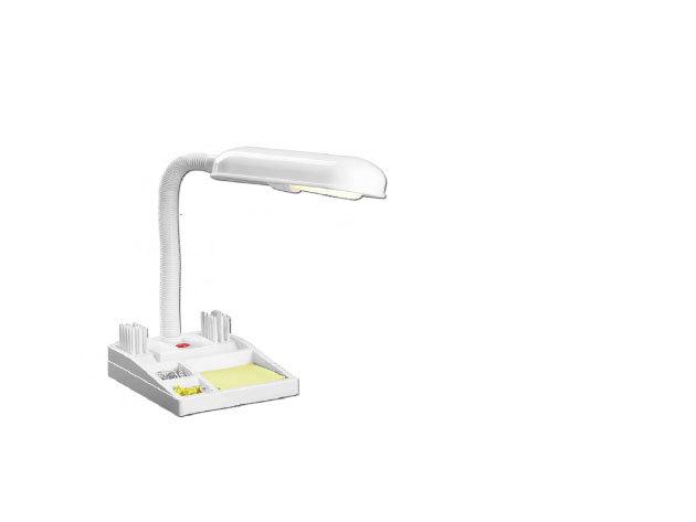 Írószertartós lámpa (Fehér, fekete)