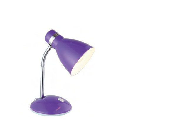 Kerek, talpas lámpa, fém, flexi nyakkal