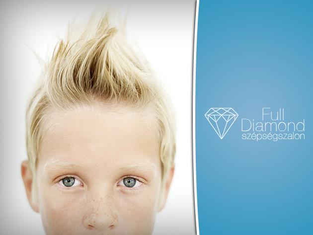 Menő frizura a suliba! Gyermek hajvágás 2.900 Ft helyett 1.200 Ft-ért a Full Diamond Szépségszalonban!