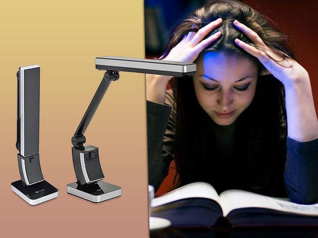 Ott-Lite Slim természetes fényű, teljes spektrumú összehajtható asztali lámpa 12.950 Ft-ért!