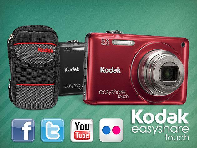 Kodak EasyShare M23 digitális fényképezőgép ajándék tokkal, képmegosztó funkcióval!