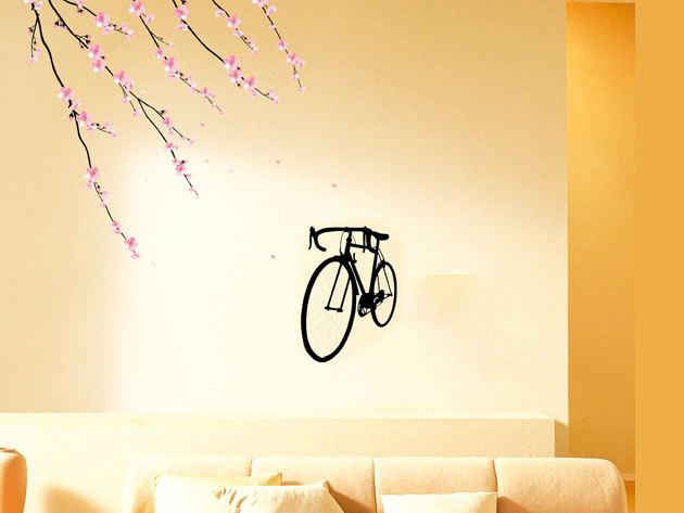 Bicikli ágak alatt falmatrica  (A bicikli mérete 26x37 cm)