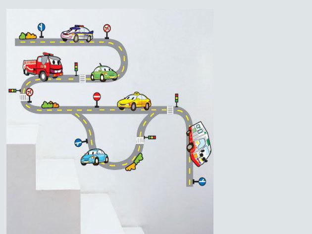 Autópálya falmatrica (Az autók mérete kb. 19x9-13 cm)
