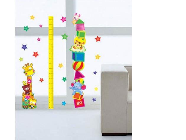 Magasságmérő falmatrica (A zsiráf 47x16cm)