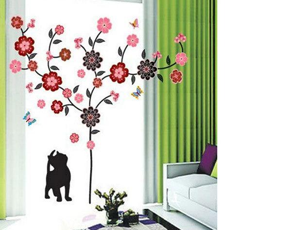 Cica fa alatt falmatrica (A cica mérete 29x14 cm, a kirakható fa kb. 1 méter magas)