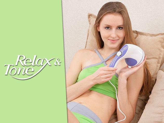Relax and Tone – kézi masszírozó és bőrfeszesítő készülék, ajándék Q10 krémmel!